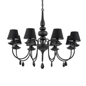 Люстры Ideal Lux BLANCHE SP8 NERO